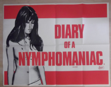 Diary of a Nyphomaniac, Original UK Quad Poster, Jesus Franco, '73